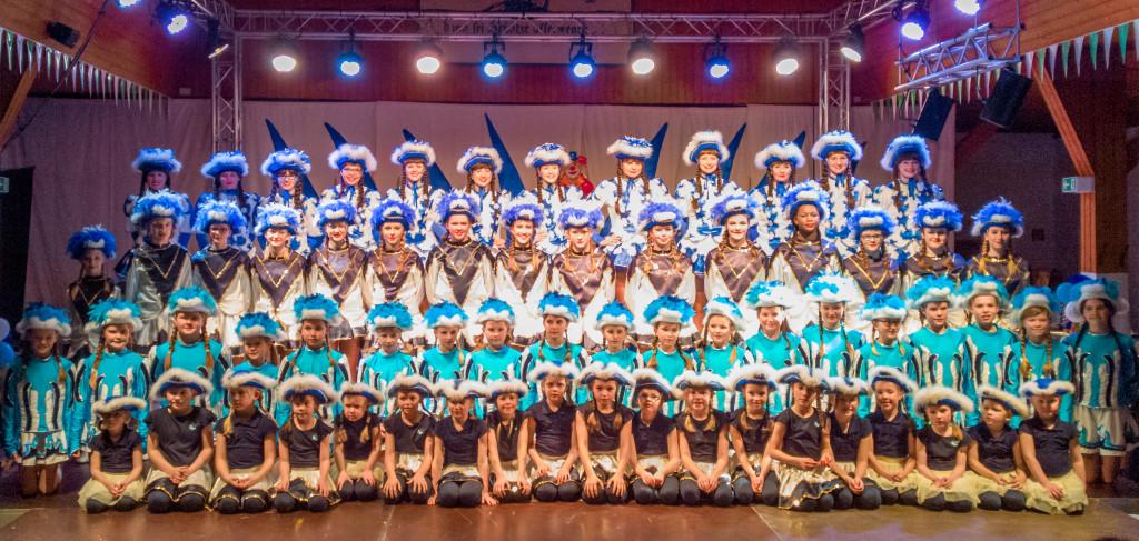 Gruppenfoto Gardetanz-Abteilung